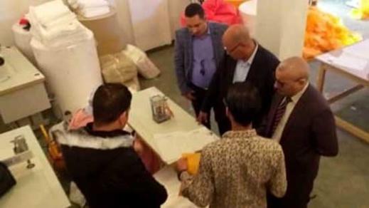باشا بنطيب يزور مصنع الأكياس البديلة