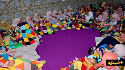 لأول مرة.. شاهدوا أجواء احتفال نساء الزاوية الكركرية بالعروي بعيد المولد النبوي الشريف
