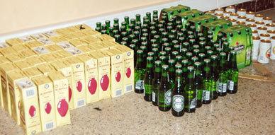 أمن أزغنغان يحجز كمية كبيرة من الخمور المهربة على متن سيارة ويعتقل عنصر إجرامي من ذوي السوابق العدلية
