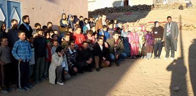 تقرير شامل عن قافلة التضامن الى منطقة دوار أمغلاي بإقليم ورزازات