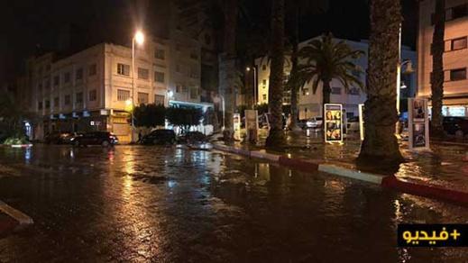 شاهدوا.. تسجيل تساقطات مطرية مهمة بمدينة الناظور وبلداتها الضاحوية
