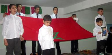 تلاميذ القسم الداخلي بثانوية ابن سينا بأزغنغان يحتفون بنهاية الأسدس الأول