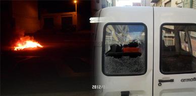 تواصل المواجهات العنيفة بين رجال الأمن والمتظاهرين ببني بوعياش
