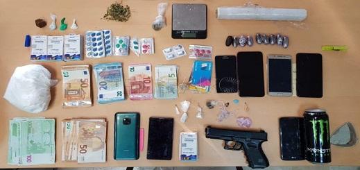 ضبط مسدس وكمية مهمة من المخدرات ومبالغ مالية لدى شبكة لترويج المخدرات