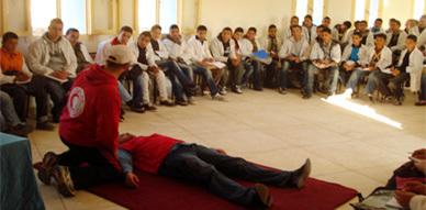 الهلال الأحمر المغربي بالناظور ينظم ورشات تكوينية حول الإسعافات الأولية