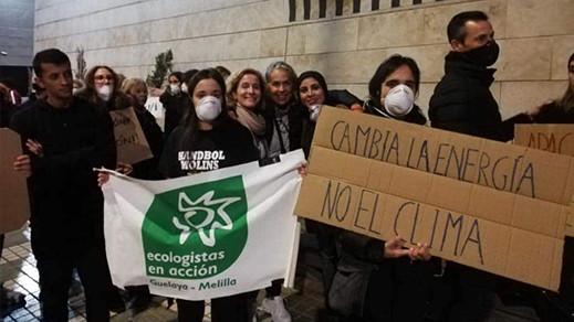 احتجاج بمليلية ضد مصنع للطاقة يساهم في تلويث البيئة والمناخ