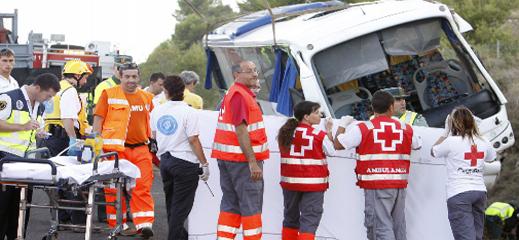 محاكمة مسؤولي شركة للنقل أودت بحياة 8 مغاربة خلال عودتهم من الناظور إلى اسبانيا
