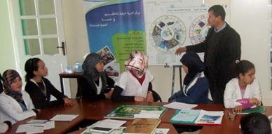 النادي البيئي لإعدادية إصبانن في زيارة لمركز التربية البيئية بالناظور