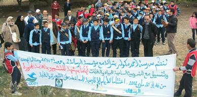 مدرسة أحمد مكوار تنظم حملة تحسيسية حول التشجير لفائدة التلاميذ