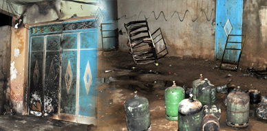 فعل إجرامي وراء إنفجار ست قنينات غاز البوتان بحي إبوعجاجا بالناظور و الساكنة تصاب بهلع شديد