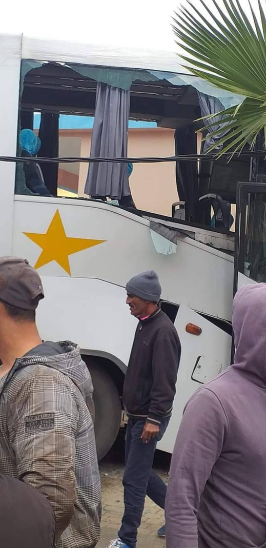 الألطاف الإلهية تحول دون سقوط ضحايا في حادثة حافلة لنقل المسافرين بتزطوطين