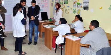 تلاميذ مؤسسة الرسالة (2) للتعليم الخصوصي في زيارة إلى مركز الخير لإدماج المعاقين بالناظور