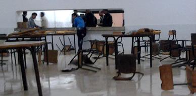 تلاميذ داخلية ثانوية المطار بالناظور يحتجون على أوضاعهم المزرية