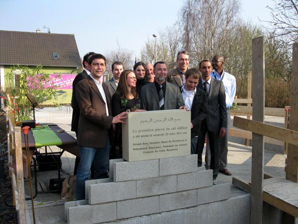 وضع الحجر الأساس لبناء مسجد روبيرتسو بستراسبورغ