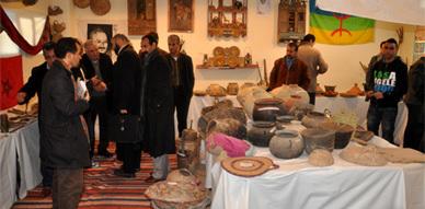 إفتتاح الأيام الثقافية الأمازيغية الأولى بثانوية فرخانة التأهيلية