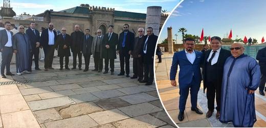 وفد عن حزب العهد الديمقراطي يزور ضريح محمد الخامس بالرباط