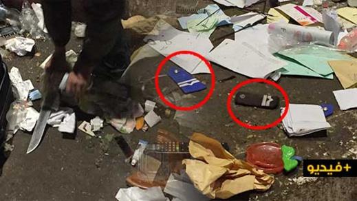 العثور على سكينين وشارات خاصة برتب الشرطة في حاوية ازبال يستنفر العناصر الأمنية بالناظور