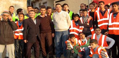 جمعية حي العمالي بأزغنغان في زيارة للتحسيس بضرورة المحافظة على البيئة والماء