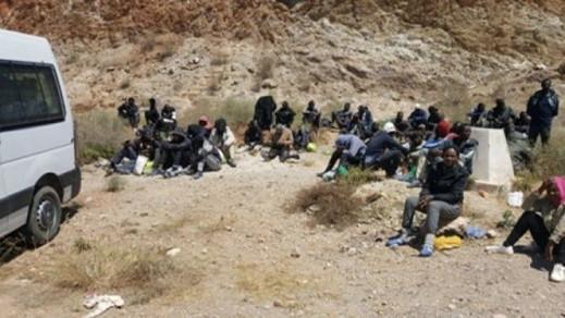 في عملية جديدة.. الأمن يوقف 63 مهاجر من دول جنوب الصحراء ويعتقل 4 اشخاص من شبكة التهجير