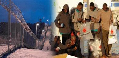 تسلل أربعة مهاجرين أفارقة إلى مليلية السليبة وإعتقال أربعة من زملائهم