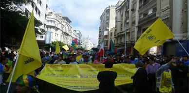 """أمازيغ المغرب يحيون """"ثافسوت ثامازيغت"""" بالمشاركة في مسيرة """"تاوادا الدار البيضاء"""" الحاشدة"""