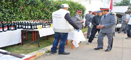 الدرك الملكي بسلوان يوقف شخصين كانا على متن سيارة محملة بالخمور المهربة
