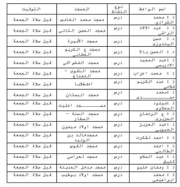 إعلان: حملة للوعظ والإرشاد بمساجد بلدية الناظور