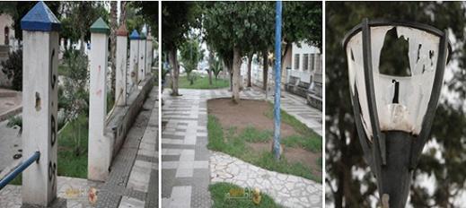 """حديقة """"لعري الشيخ"""" من معلمة بيئية وسط الناظور إلى مساحة جرداء بسبب الإهمال والتهميش واللامبالاة"""
