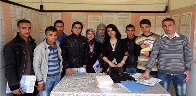 تلامذة ثانوية تأهيلية قاسيطة يحضرون ملتقى التعليم العالي بالناضور