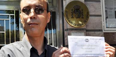 عمال مغاربة  بمدينة مليلية المحتلة ينتفضون في عيد الشغل بمذكرة مطلبية للقنصل الإسباني بالناظور