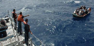 إعتقال ستة مهاجرين سريين أفارقة تمكنوا من الوصول إلى الجزر الجعفرية على متن زورق