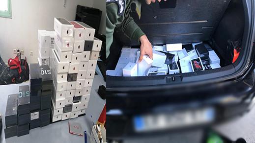 حجز كمية من الهواتف النقالة داخل سيارة قادمة من ألمانيا