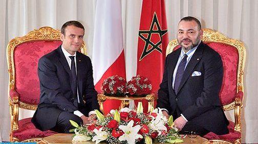 الملك محمد السادس  يتلقى اتصالا هاتفيًا من الرئيس الفرنسي وهذا ما دار بينهما