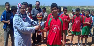 مجموعة مدارس لحويسية ببني وكيل تنظم دوريا في كرة القدم