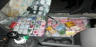 درك أركمان يضبط كمية مهمة المخدرات على متن سيارة مزورة