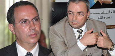 صورة تركيبية للعاقل بنتهامي وعامل المحمدية سابقا عبد العزيز بودادس