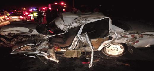 ازيد من عشرة قتلى و 1000 جريح بسبب حوادث سير وقعت الاسبوع الماضي
