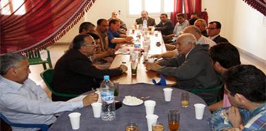 أعضاء من الديوان السياسي لحزب التقدم والإشتراكية يناقشون بالناظور واقع وآفاق الحزب بالمنطقة