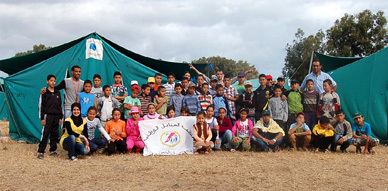منظمة السنابل الوطنية بلهدارة بأركمان تنظم رحلة  ترفيهية إلى مخيم السعيدية