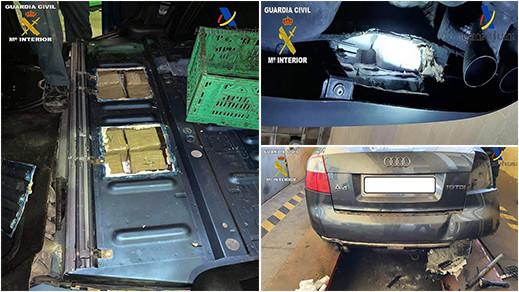 القبض على شخصين مقيمان بالخارج حاولا تهريب كمية من الحشيش عبر ميناء مليلية
