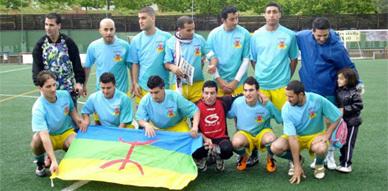 تكريم اللاعب الريفي نور الدين الروتبي في مدينة روزاس الكاتلانية