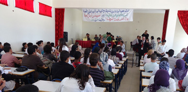 جمعية علاء الدين تبصم على تظاهرة ثقافية متميزة بثانوية عبد الكريم الخطابي بالناظور