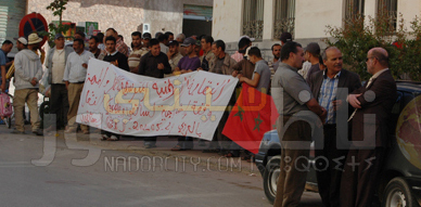 النقابة الوطنية المتوسطية للنقل و المهن في وقفة احتجاجية بالعروي ضد بعض فصول مدونة السير