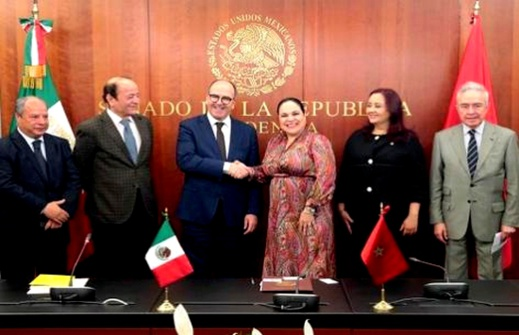 بنشماش وسلامة يلتقيان رئيسة مجلس الشيوخ المكسيكي ويتباحثان سبل تعزيز علاقات التعاون