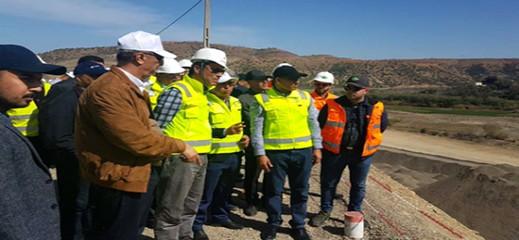 وزير التجهيز يطلع على سير أشغال المشاريع المائية والطرقية بالحسيمة
