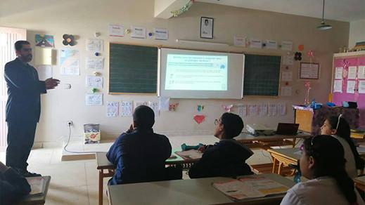 مدرسة حلولة بتمسمان تنخرط في حملة تحسيسية حول الوقاية من فيروس كورونا
