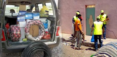 جمعية اتحاد الكهربائيين بالناظور توزع مجموعة من المواد الكهربائية على سكان بني سيدال لوطا