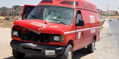 رجل خمسيني يلفظ أنفاسه الأخيرة عقب اصطدامه بسيارة إسعاف بطريق سلوان