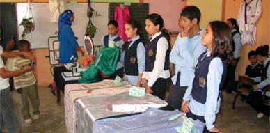 نادي الصناعة التقليدية بمجموعة مدارس سعد بن أبي وقاص بتاويمة يعرض منتوجاته