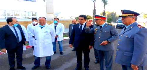 أطقم طبية عسكرية تحل بالحسيمة للمشاركة في عملية مكافحة وباء كورونا